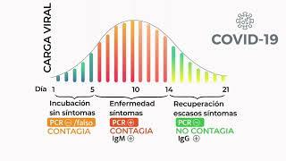 Gráfica de carga viral COVID-19