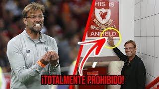 """La extraña razón por la que Klopp no deja que NADIE toque la placa de """"This Is Anfield"""" en Liverpool"""