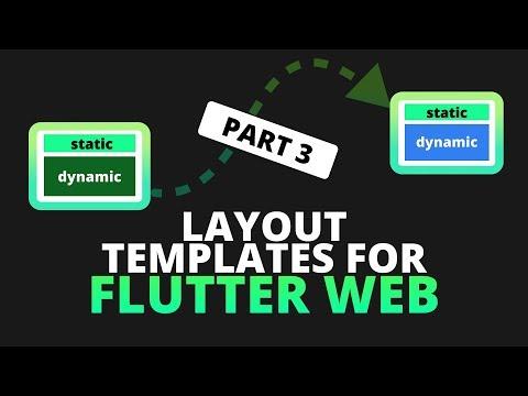 Template Layouts and Navigation for Flutter Web - Flutter Web Part 3