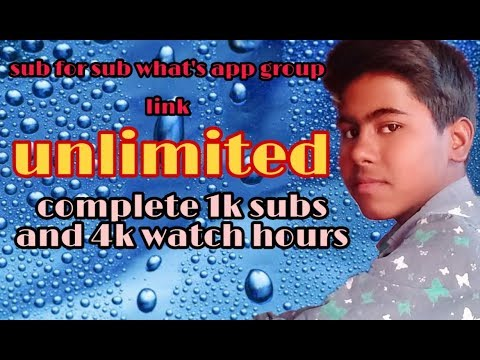 Sub For Sub What's App Group Link Join // Unlimited Group//