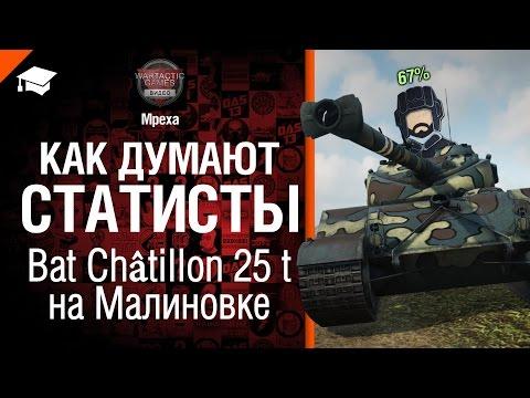 Как думают статисты: №3 Bat  Châtillon 25 t на Малиновке - от Mpexa [World of Tanks]