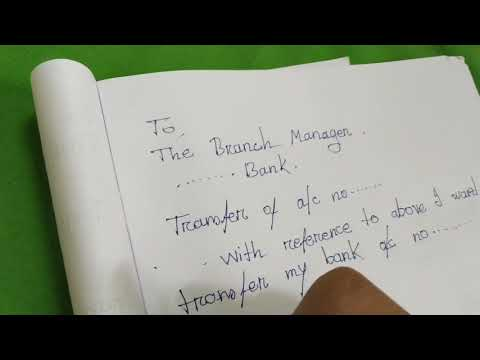 Application For Transfer Bank Account