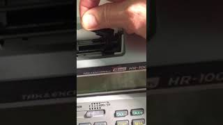 How to change a CASIO HR-100TM ink ribbon