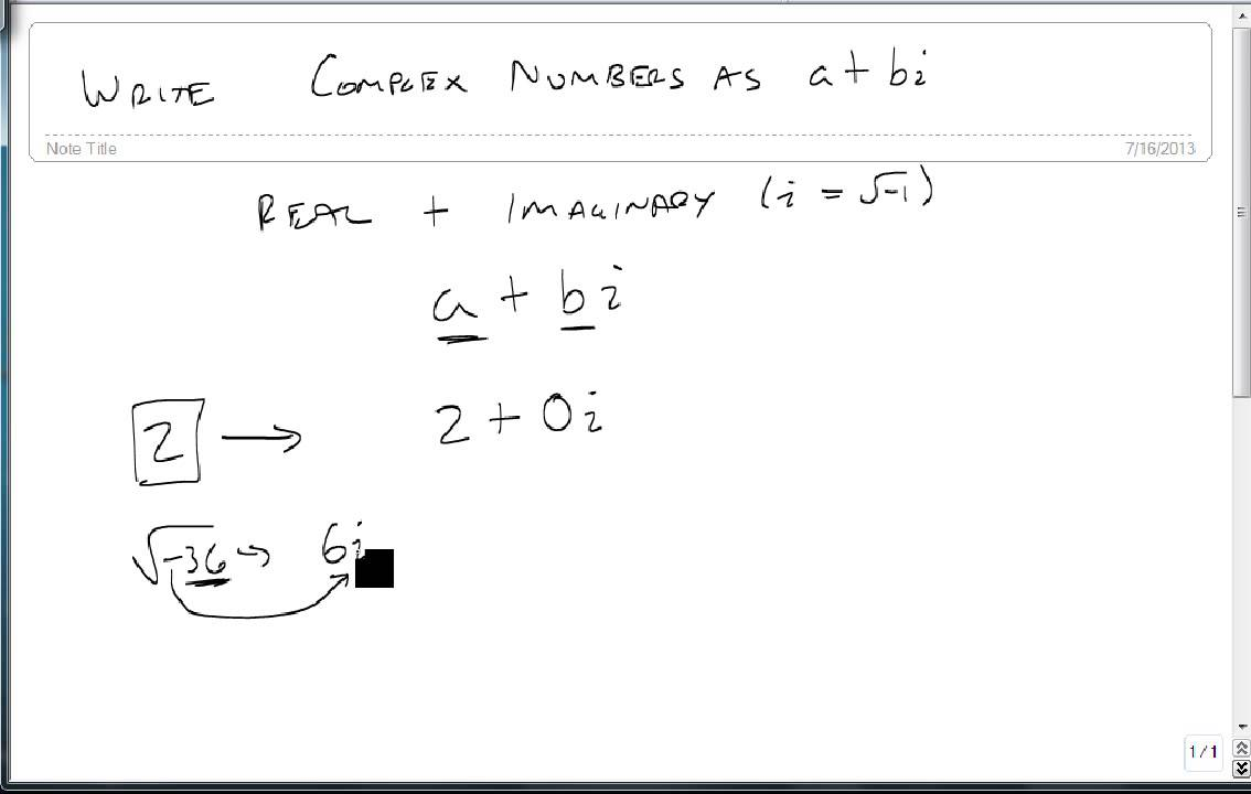 Write Complex Numbers In The Form Abi Youtube