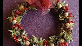 Kаксделать венок  своими руками. Fall wreath. DIY(Cделай венок для украшения квартиры или дачного домика. Это просто и интересно! Особенно с детьми! Все эти..., 2013-09-29T15:05:21.000Z)
