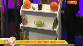 Mommy Must Haves: Kid's Mobile Bookcase White Rabbit By Ace Baby Furniture