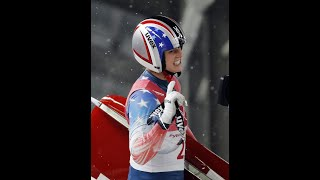 American Emily Sweeney thrown off sled in luge crash
