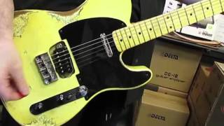 fender mij stratocaster telecaster hybrid refinished by palermo guitars woman in love cover