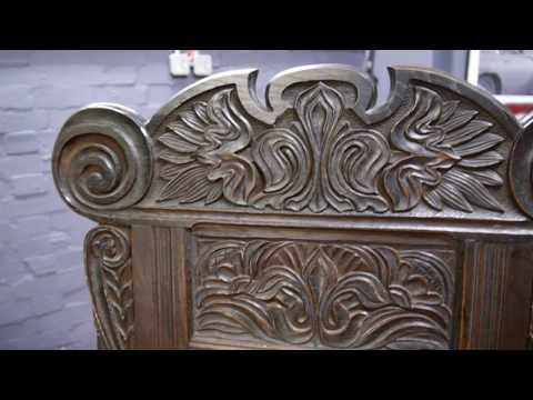 Victorian Antique Carved Oak Wainscot Chair