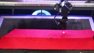 HT 350 60W laser cutting machine on felt