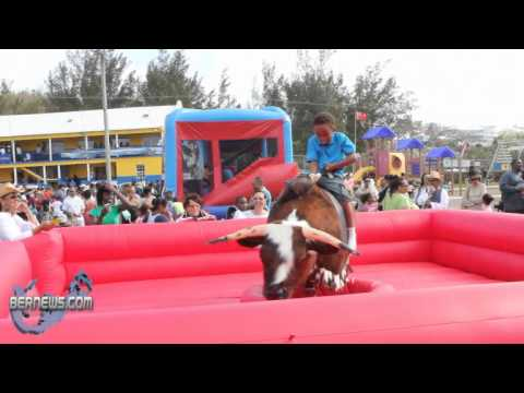 Mechanical Bull Riding St. David's Gilbert Lamb Day Good Friday Bermuda April 22 2011