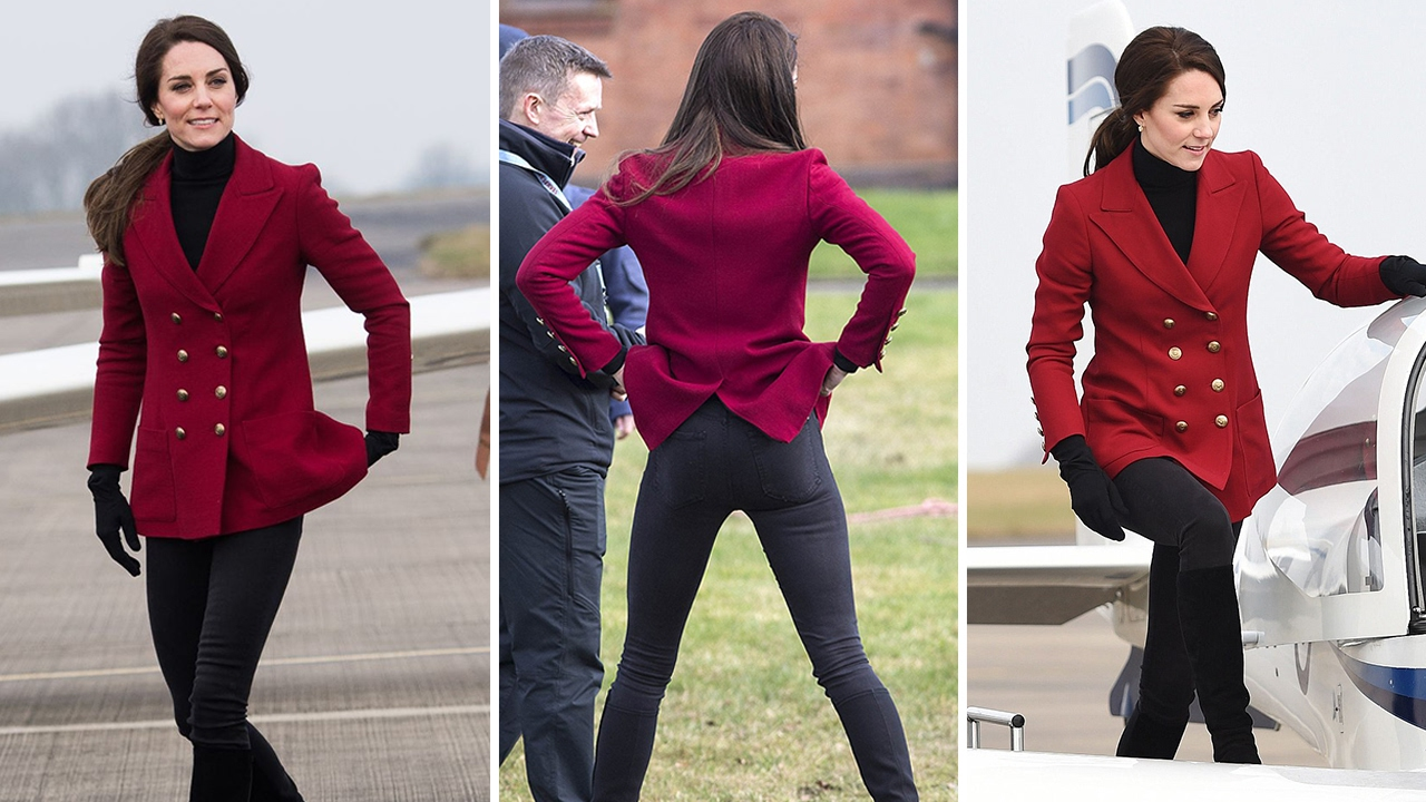 Kate Middleton shows off her Athletic Figure in Skinny ...