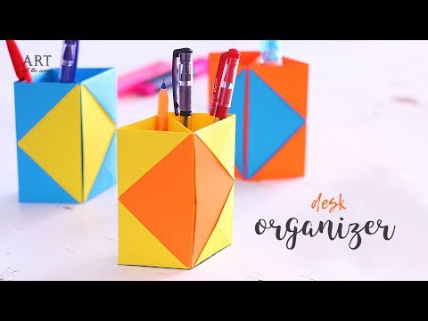Creative DIY Desk Organizer | Back To School