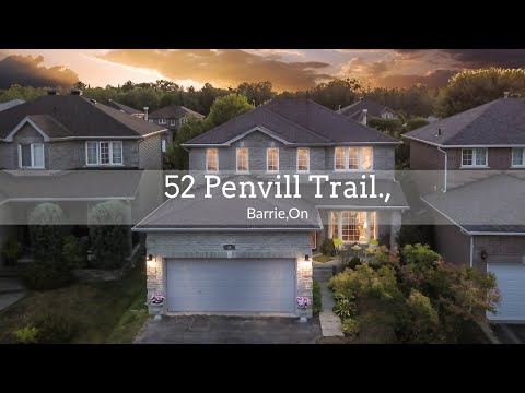 52 Penvill Trail, Barrie On MLS Listing For Sale