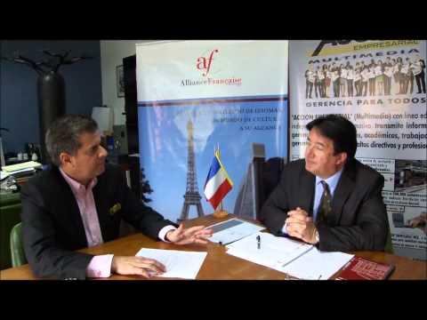 Rafael Nieves Acción Empresarial Multimedia Interview Francais avec  Dr  Alain Villechalane, Directeur de de l'Alliance Française au Vénézuela 1 2