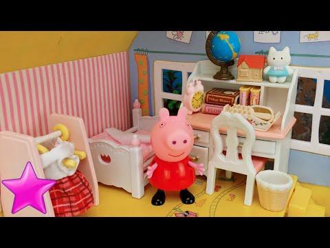 Peppa Pig estrena dormitorio nuevo Vídeos de Juguetes de Peppa Pig