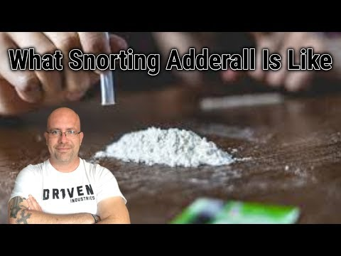 What Snorting Adderall Is Like