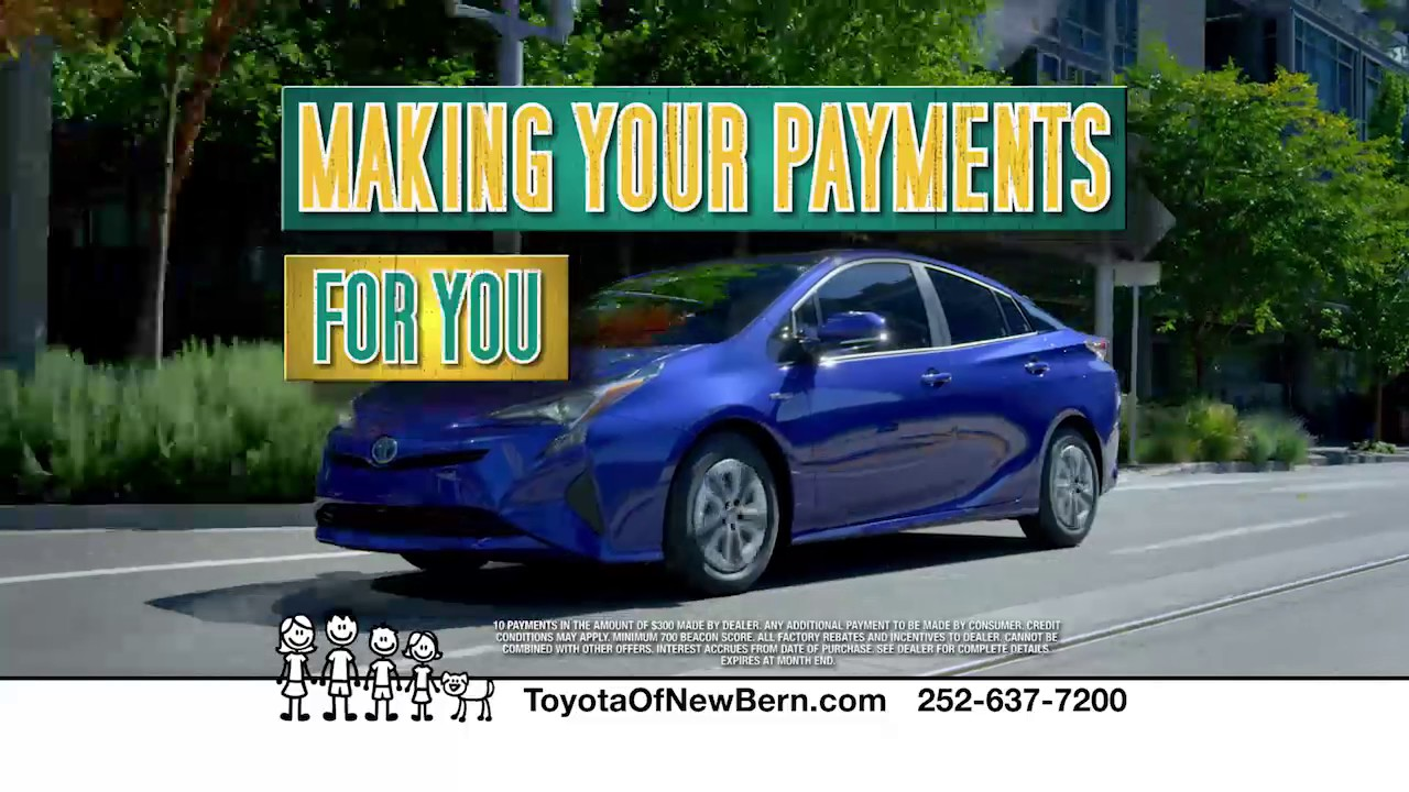 Toyota Of New Bern Will Make Your Payments For 1 Year!