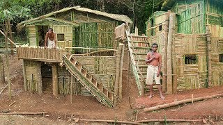 Completely Unbelievable! Building the Most Beautiful Ancient Bamboo Villa House