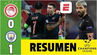 Olympiacos 0-1 Manchester City. GOL de Foden pone a Pep en 8vos. Regresó Agüero | Champions League