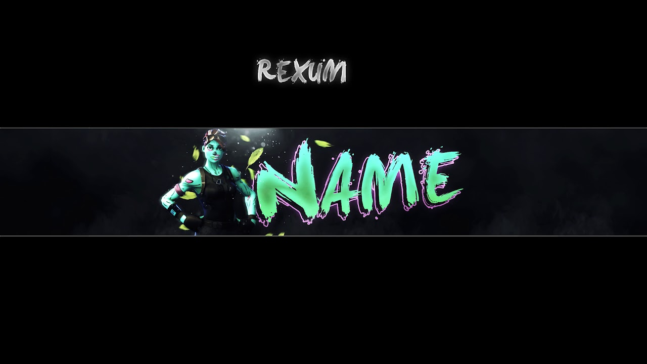Free Fornite Banner Template Photoshop Rexum Youtube