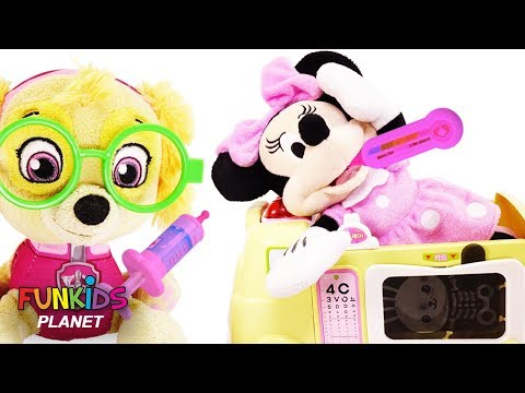 Paw Patrol Doctor Skye Help Minnie Mouse with Doc McStuffins Help