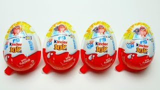 4 Kinder Joy unboxing with Special Angry Birds Toys and Chocolate