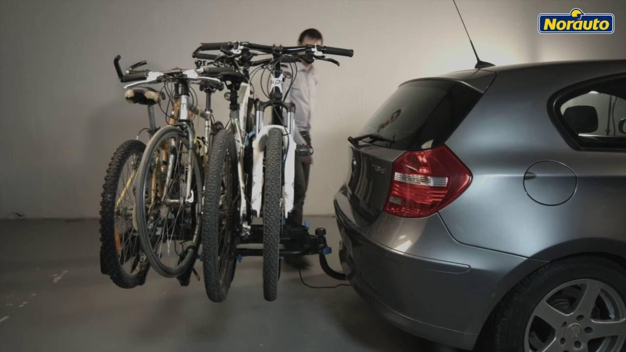 porte velos pliant d attelage plateforme norauto rapid bike pour 4 velos disponible sur norauto fr