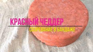 Чеддер Красный Сыр Чеддер в бандаже из Гусиного жира и Молотого кофе