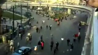 Cars run over protesters in Egypt demonstration   الجزاء سيكون من جنس العمل