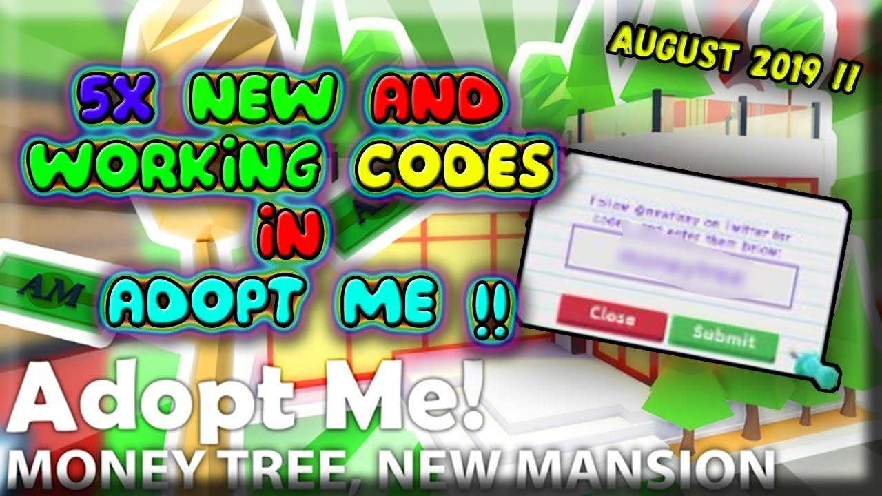 Adopt Me New Codes 5x New Codes August 2019 Roblox