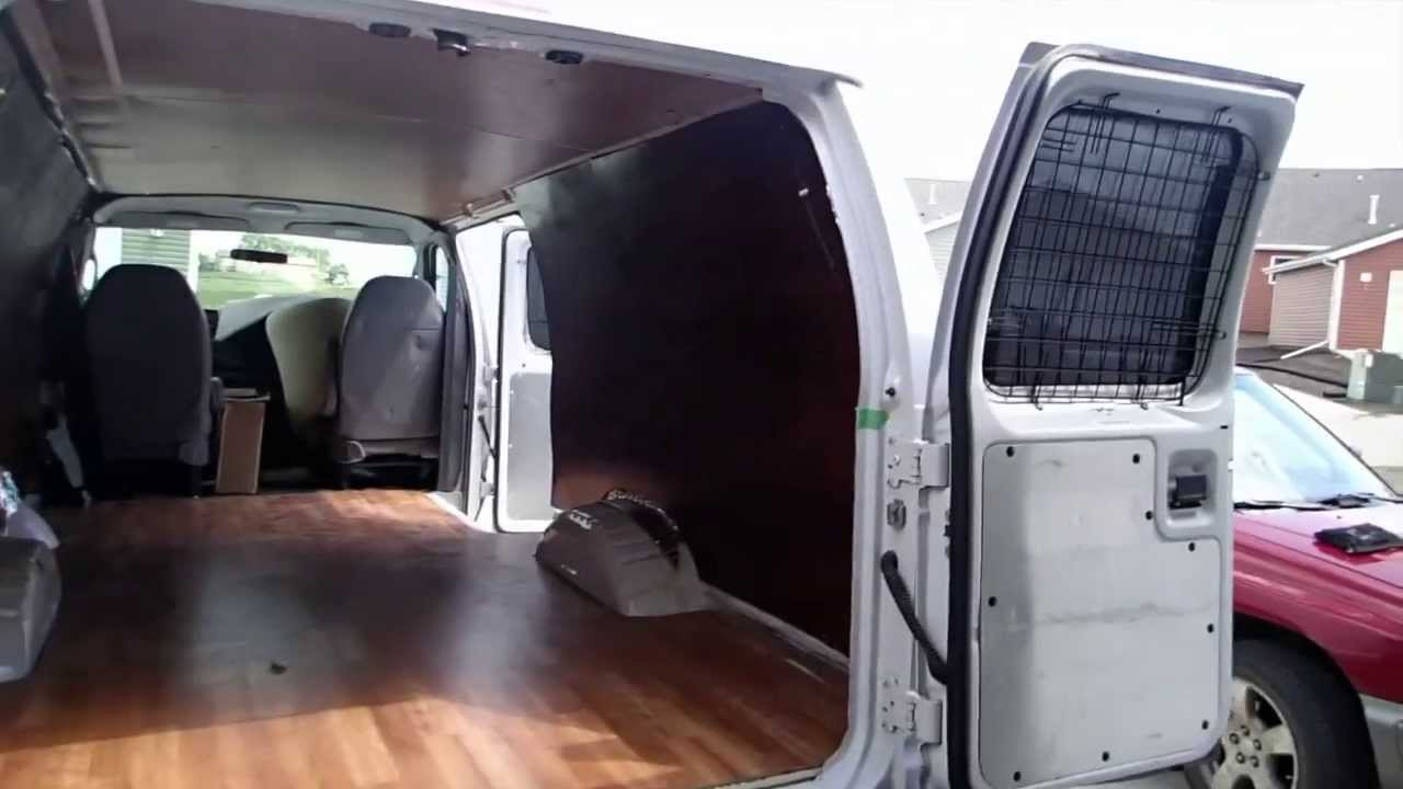 Living Off The Grid Camper Van Build Day 7 Walls Youtube