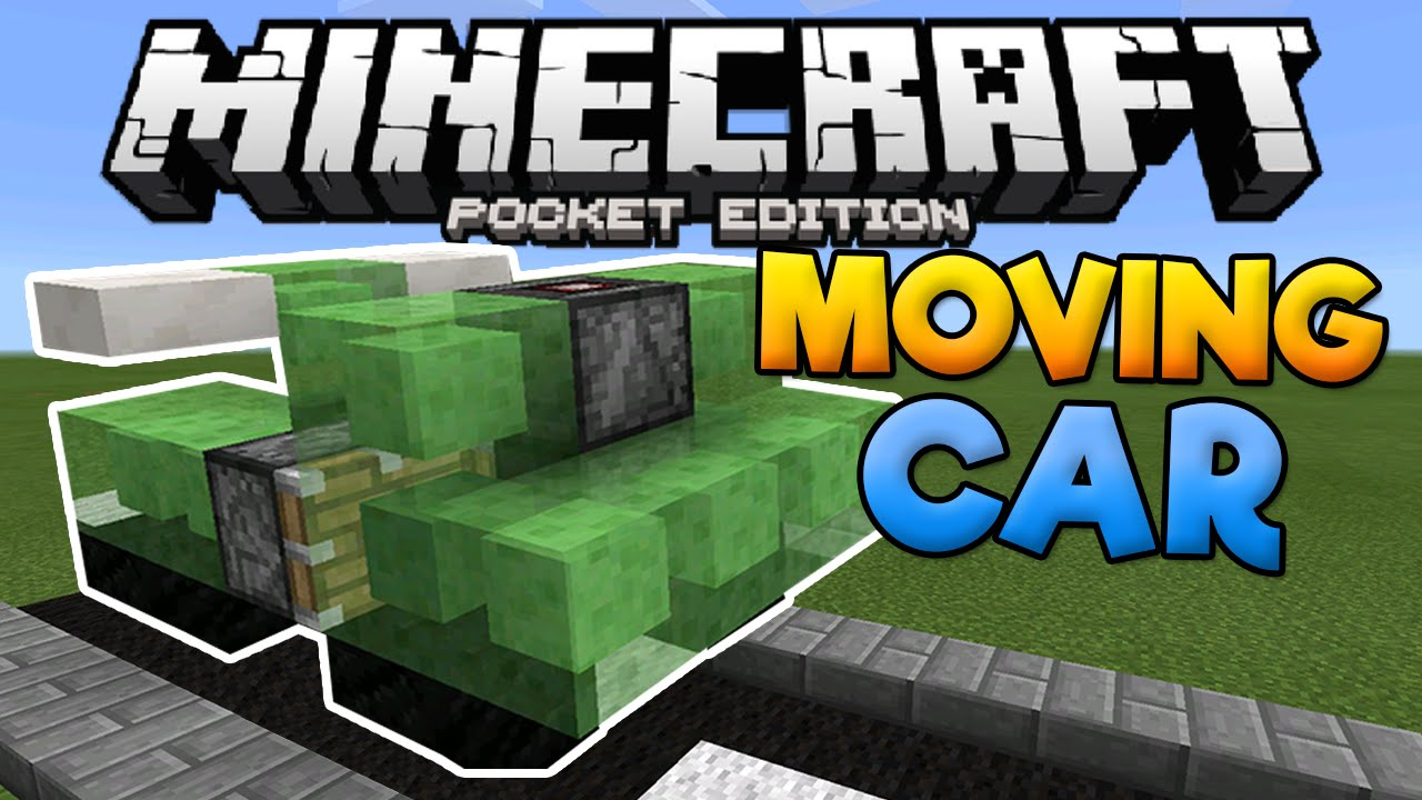 MOVING CARS in MCPE!!! - Slime Block Creation - Minecraft PE (Pocket  Edition)