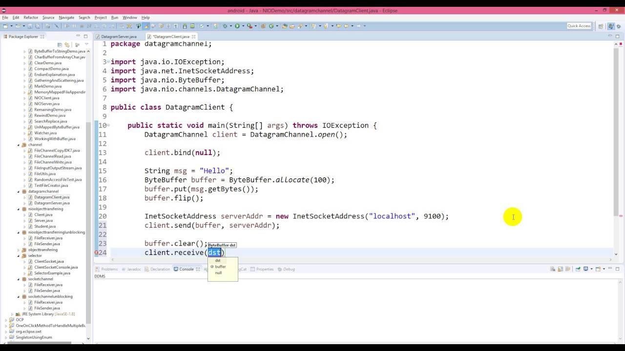 Java nio transfer data using datagramchannel youtube java nio transfer data using datagramchannel baditri Images