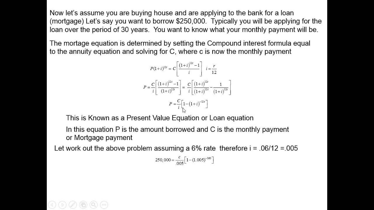 mortgage equation