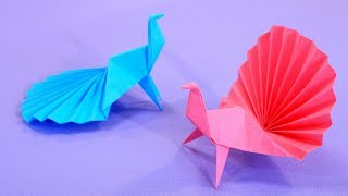 Оригами Павлин из бумаги как настоящий