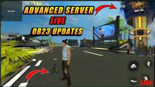 #FreeFire Advanced Server Live OB23 Updates Full Details 100% Real Video #HINDI