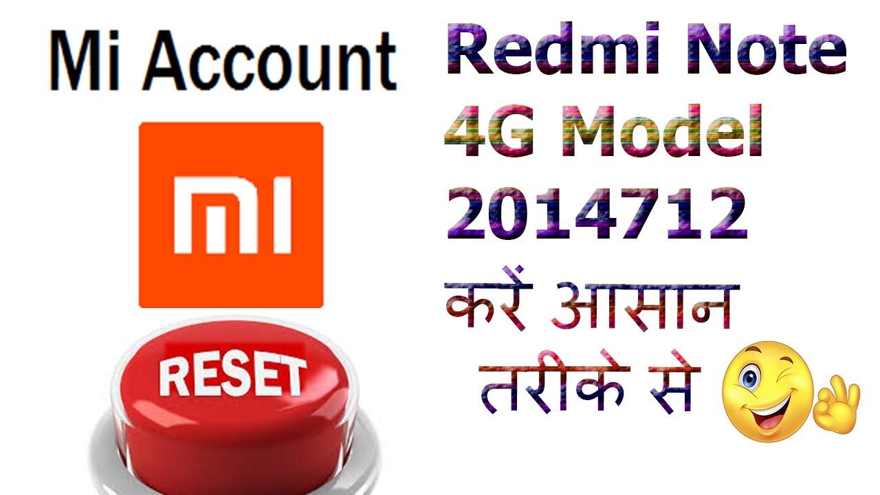 Download Redmi Note 4G 2014712 How To Remove Mi Account Hindi Clip
