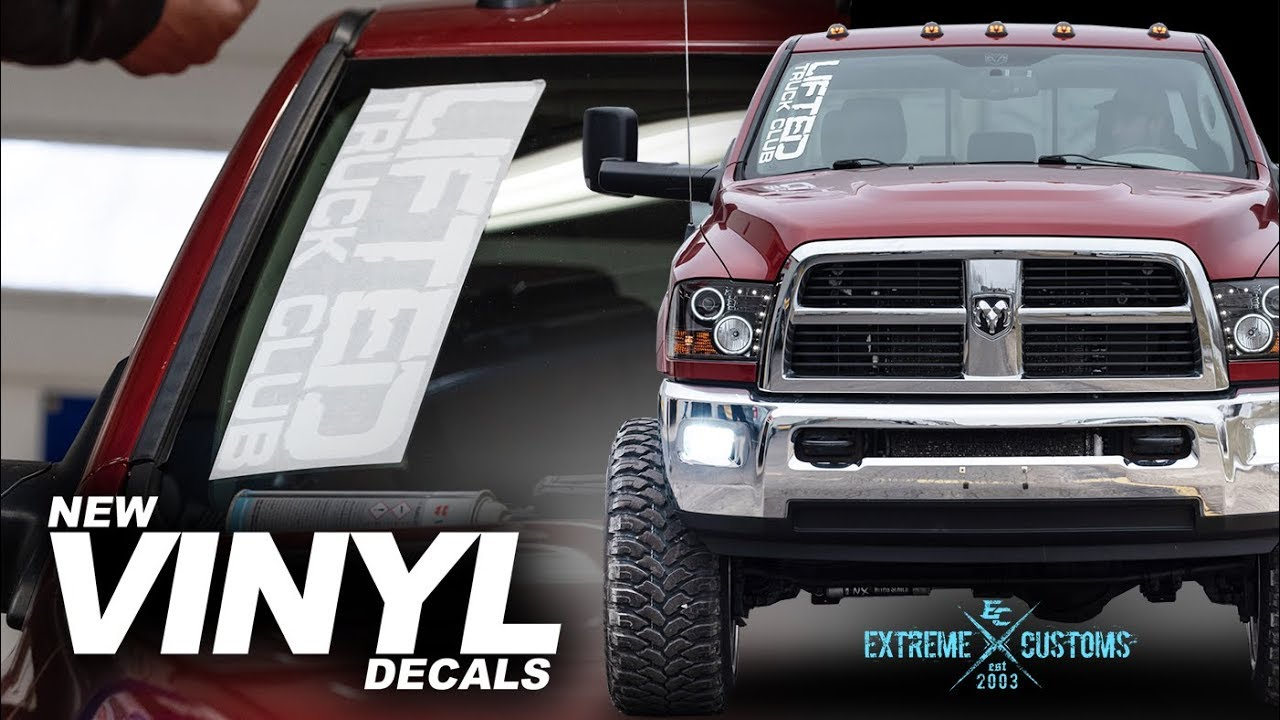 Lifted truck club decals for your truck available now