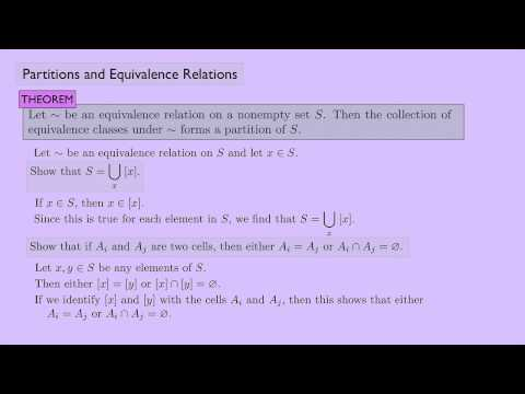 (Abstract Algebra 1) Partitions and Equivalence Relations