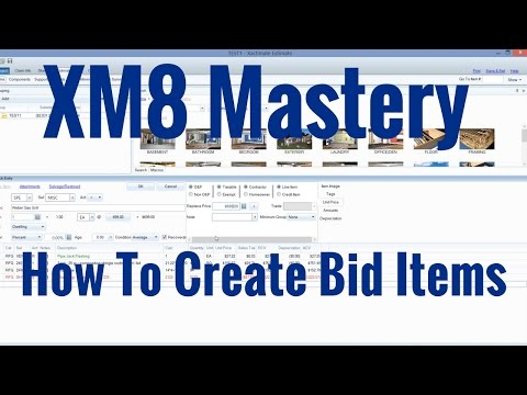 How to Use Bid Items in Xactimate:freedownloadl.com  softwares, wall, hvac, ceil, kitchen, thermostat, english, french, download, unit, bathroom, insul, window, wizard, plumb, free