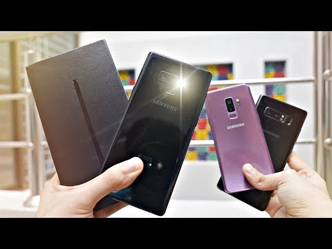 Samsung Galaxy Note 9 BLACK Unboxing & AI Camera Test vs S9 Plus & NOTE 8!