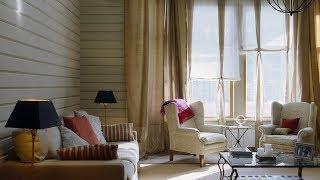 Интерьер деревянного дома в английском стиле