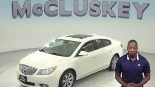 A97928DP Used 2011 Buick Lacrosse White Sedan Test Drive, Review, For Sale -
