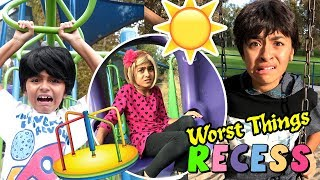 Worst Things Recess - Funny Playground Spoof - Primary School Student : SKETCH COMEDY // GEM Sisters
