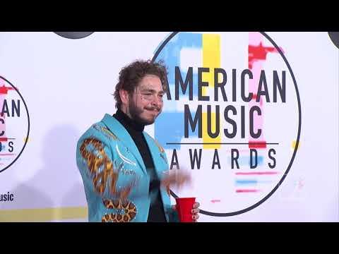 Post Malone AMAs Red Carpet 2018 #AMAs