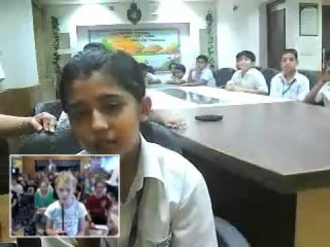 Skype Session - Windsor, Ontario ~ New Delhi, India Part 1