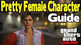 GTA Online - How To Make a Pretty Female Character & Curb Stomp Camera Trick [GTA V]