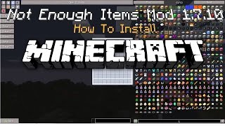 Minecraft How To Install - Not Enough Items Mod 1.7.10