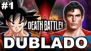 vuclip Goku VS Superman - (DUBLADO PT-BR)| DEATH BATTLE! | ScrewAttack!